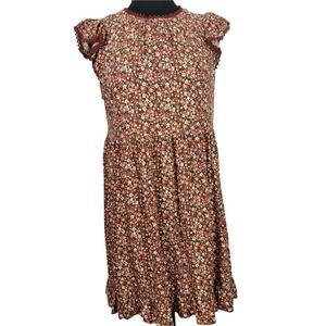 2/$20 Wild Fable Dress Knee Length Peasant Floral